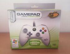 MICROSOFT XBOX 360 Controlador USB con cables Blanco Control De Juego Gamepad Pad Mad Catz