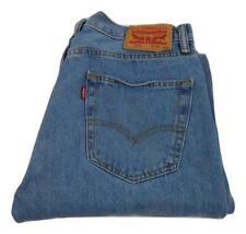 "Levi Strauss 505 Regular Fit Straight Leg Jeans Waist 34"" Leg 34"" Zip Fly (M8942"
