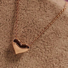 Fashionable Womens Heart Pendant Chain Necklace