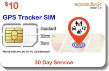 SIM Card for GPS Trackers - Pet Kid Senior Car Tracking Device-Roaming Available