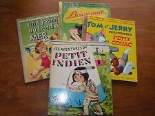 LOT DE 4 un petit livre d' argent / or PETIT INDIEN TOM ET JERRY BONNE NUIT...
