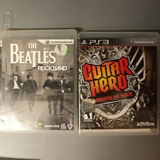 Guitar Hero: Warriors of Rock and The Beatles Rockband(Sony PlayStation 3, PS3)