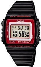 Casio W215H-1A2 Black Red border Digital Watch W-215H-1A2
