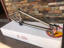 """S&M BIKES BONESAW FRAME GLOSS CLEAR 21.25 BMX BIKE 21.25"""" Isaac Barnes 1664"""