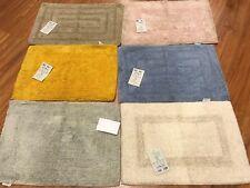 Set 6 tappeti scendi doccia in cotone cm 40 x 60 colori assortiti lavabili bagno