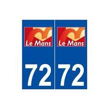 72 Le Mans logo autocollant plaque stickers ville arrondis