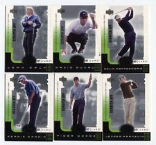2001 Upper Deck Golf Digital E-card SET Tiger Woods Daly Duval Garcia