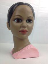 Vtg Lego Chalkware Woman's Head Hawaiian Polynesian Girl Bust Japan Excellent