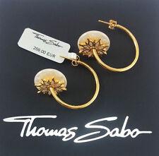 Thomas Sabo Creolen UVP-259 € Silber Ohrringe Perlmutt - Zirkonia CR585-446-14