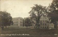 Newtonville MA Tech High School c1910 Real Photo Postcard #2