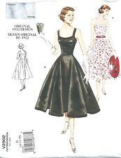 VINTAGE VOGUE 2902 SEWING PATTERN 1952 DESIGN FITTED DRESS SZ D 12-16 NEW UNCUT
