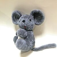 Vintage 1973 Dakin & Co Plush Mouse Blue Grey Collectible Stuffed Animal
