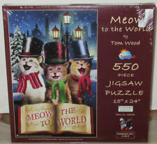 SunsOut MEOW TO THE WORLD Cat Kitten 550 Piece Jigsaw Puzzle Tom Wood #28681 NEW