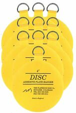 Original Invisible Disc Adhesive Plate Hangers Set of Ten 4 Inch
