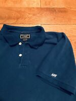 Vintage 90s Polo Shirt Abercrombie And Fitch Faded Navy Blue Mens XL Pre-Owned