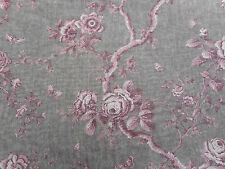 "Ralph Lauren Curtain Fabric ""ashfield Floral Voile"" 2 Metres Vintage Blush"