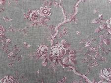Ralph Lauren Fabric 'Ashfield Floral Voile' 3.1 METRES Vintage Blush Linen Sheer
