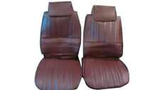 1983-1984 Hurst Olds Cutlass 442 Maple Red VINYL Front Seat Covers Set