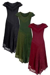 Lace and crochet layered dress