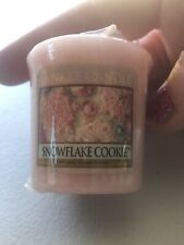 Yankee Candle Snowflake Cookie Votive New