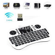Mini Portable 2.4GHz Wireless  92 Keys Keyboard Touchpad Mouse Keypad White CA
