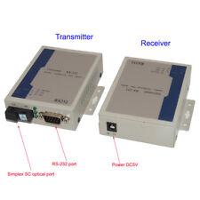 RS-232 Data Fiber Optical Extenders Converters Singlemode S/M fiber optic 20Km