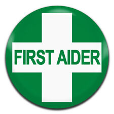 First Aider Qualified First Aid 25mm / 1 Inch D Pin Button Badge
