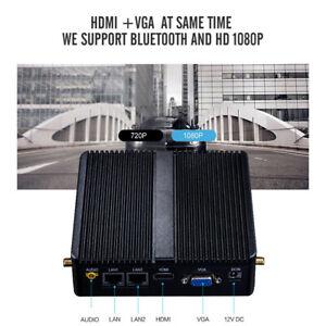 Fanless Mini PC Celeron Intel Dual LAN Wins 10 Ubuntu Industrial With Wifi HTPC