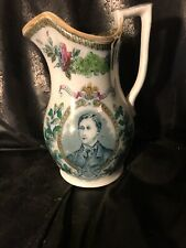 Antique King Edward VII Prince Of Wales Marriage Commemorative Pitcher