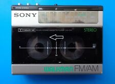 Sony Wm-F15 Cassette Player Walkman, Silver! From Personal Collection