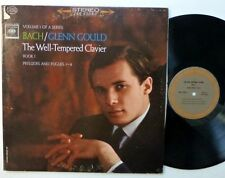 GLENN GOULD Bach The Well Tempered Clavier LP Classical Piano VG++ vinyl  Cla241