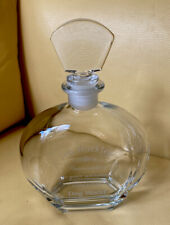 Crystal Decanter Modern With Inscription But Fabulous!