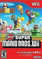 New Super Mario Bros. Wii Nintendo Wii, 2009 Game Disc Only w/ Cardboard Sleeve