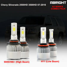 9005 H11 LED Headlight High Low Beam for Chevy Silverado 2500HD 3500HD 2007-2016