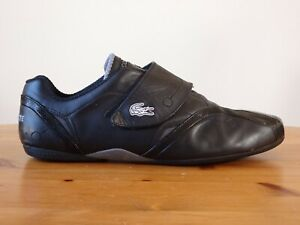 LACOSTE Protect Men's Casual Black Leather Loafer Shoes Size 12 US