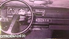 Notice d'emploi - Citroën DS 20
