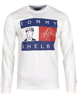 Tommy Hilfiger Denim Men's Graphic Crew Neck Sweatshirt Long Sleeve Gray