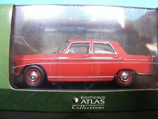 Peugeot 404 Sedan with  Sunroof Coral Red Editions Atlas in 1:43rd. Scale