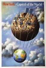 RAFAL OLBINSKI - NEW YORK CAPITAL OF THE WORLD - ORIGINAL POSTER - SURREALISM