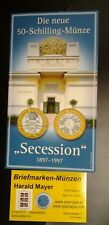 50 Schilling 1997 Wiener Sezession HGH Blister Bimetall  -- Eiamaya