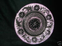 Vintage Tiara Sandwich Pattern Crystal Glass Luncheon Plate Indiana Glass