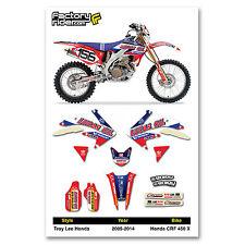 2005 - 2014  HONDA CRF 450 X TLD Dirt Bike Graphics Kit Motocross Graphics Decal