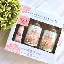 Crabtree & Evelyn Rosewater Bath & Shower Gel 16.9 fl oz X 2 Gift Set w Bonus