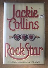 JACKIE COLLINS SIGNED & INSCRIBED ROCK STAR 1988 HARDCOVER BOOK