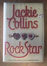 JACKIE COLLINS SIGNED & INSCRIBED ROCK STAR 1988 HARDCOVER BOOK