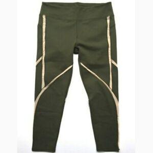 Fabletics Women's Powerhold  Penny Capri green Leggings Size 2X