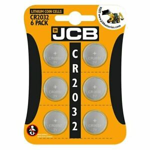 6 X JCB CR2032 3V LITHIUM BUTTON COIN CELL BATTERY DL2032 BR2032