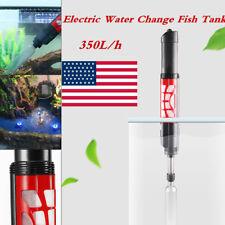 New listing Aquarium Gravel Cleaner Fish Tank Kit Long Nozzle Vacuum Water Changer 350L/h
