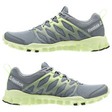 NEW REEBOK WOMENS REAL FLEX TRAIN 4.0 SHOES SNEAKER SIZE 6.5 GRAY YELLOW AR3054