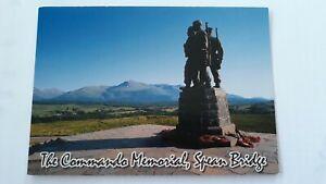 Postcard The Commando Memorial Spean Bridge Inverness-shire Scotland Postcard